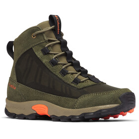 Columbia Flow Borough Botas Corte Medio Jóvenes, nori/tangy orange
